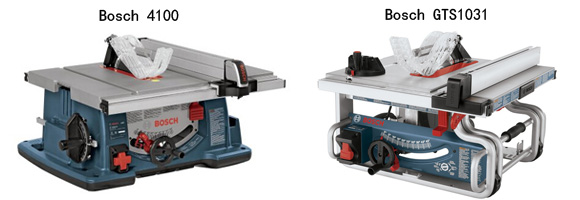 Bosch 4100 vs GTS 1031 Review - Table Saw Reviews